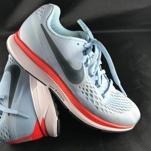 XLNT NIKE Air Zoom Pegasus 34 ICE BLUE Hyper Red